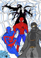 4 life 1 name: Spiderman color by ComandanteBrasco