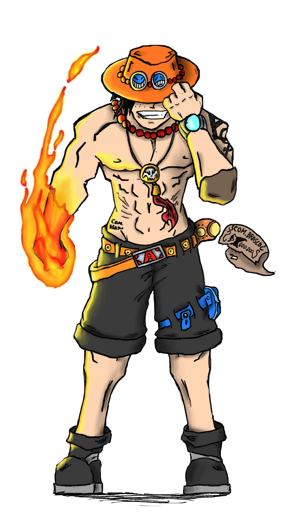 Portugues D. Ace (One Piece) by Brasco by ComandanteBrasco