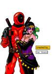 Deadpool and Shiklah by Brasco