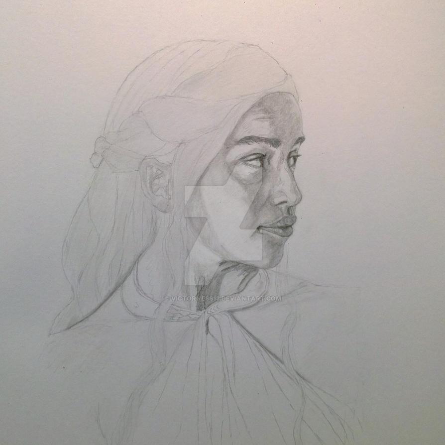 Daenerys Targaryen WIP 2 by Victorness13