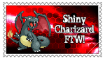 Shiny Charizard Stamp by SnowWhitesAngel