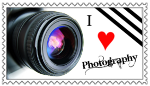 I Love Photography Stamp by SnowWhitesAngel
