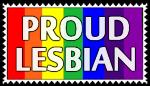 Proud Lesbian Stamp by SnowWhitesAngel