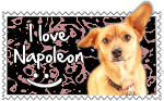 I Love Napoleon Stamp by SnowWhitesAngel