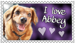 I Love Abbey Stamp by SnowWhitesAngel