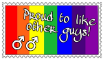 Proud To Like Other Guys Stamp by SnowWhitesAngel