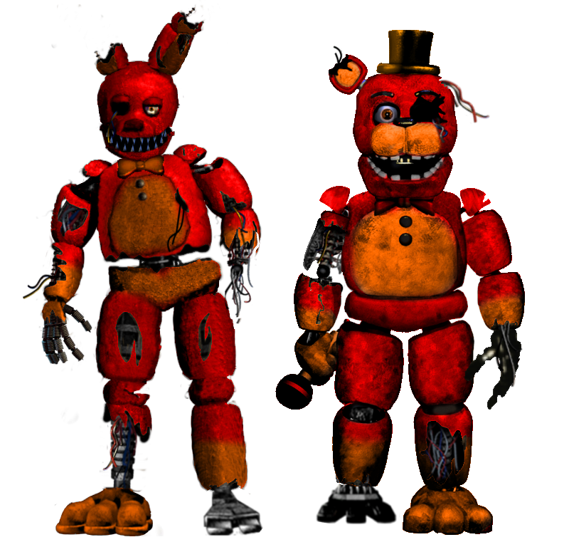 bloodys animatronics by shadowNightmare13