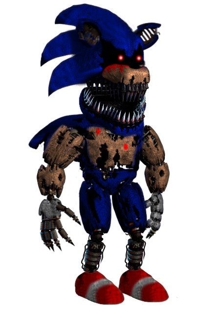 animatronic Sonic.exe(modern) by shadowNightmare13