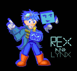 Rex And Linx pixel art by shadowNightmare13