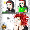 KH2: Axel's Hair Care Session by Toxxic-Vixen