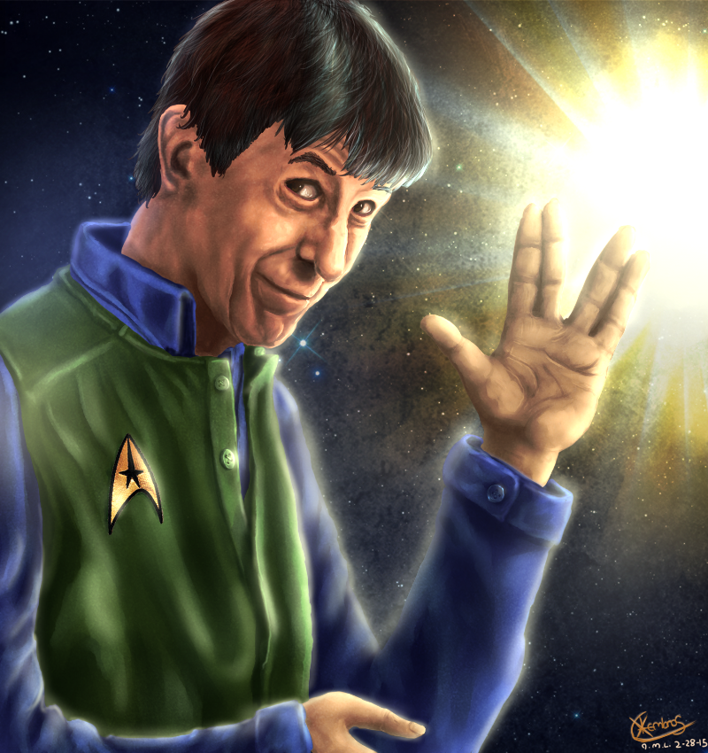 Leonard Nimoy memorial picture  by Xlembros