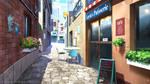 Coffee street - Visual Novel background
