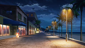 Shopping street - Night by Vui-Huynh
