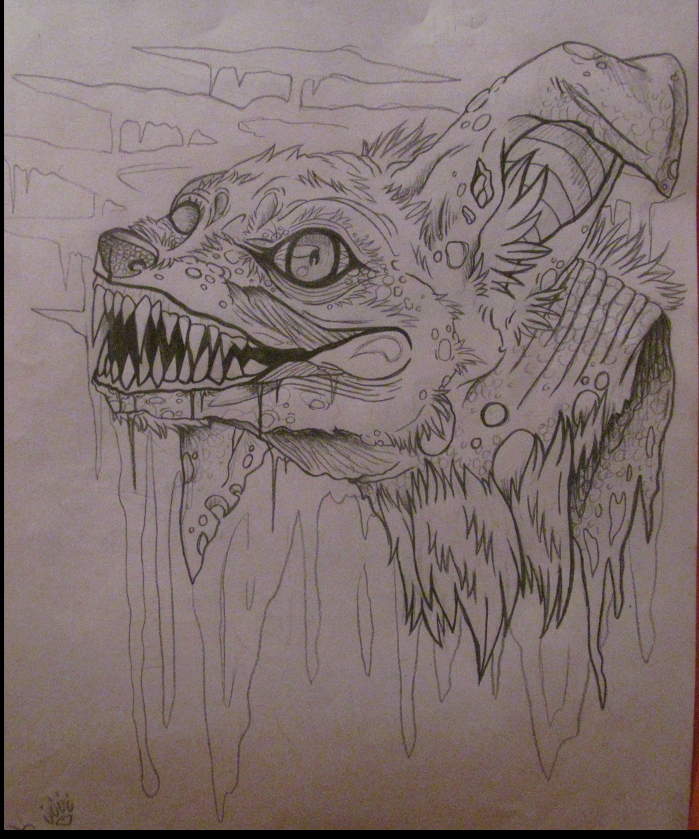 Zombie Dog Sketch by Kekeywolf on deviantART
