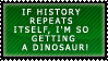 Dino Stamp by RoseRaptor-Stamps