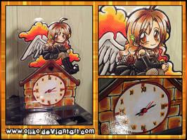 Custom Angel Clock by oliko