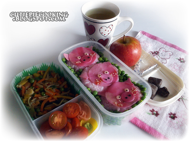 ::Three Little Piggies Bento:: by oliko