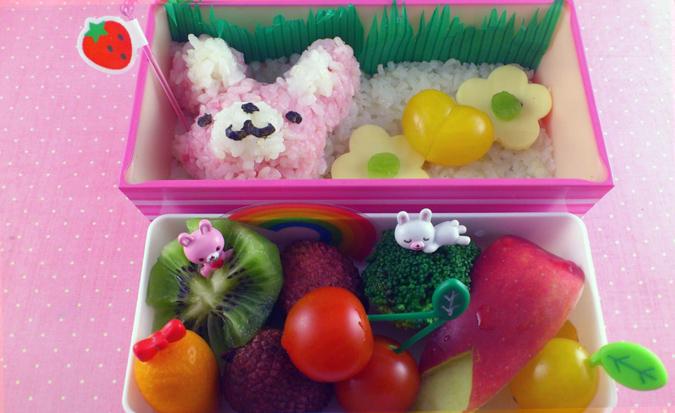Pink Bunny Bento by oliko