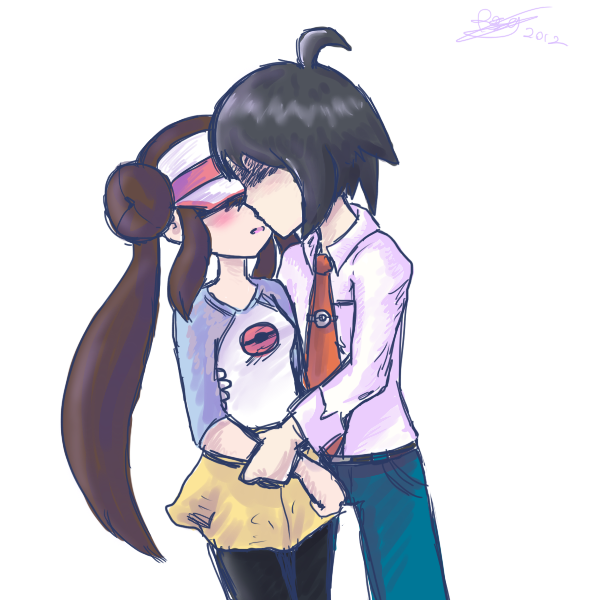 Cheren + Rosa by SolarCookie on DeviantArt