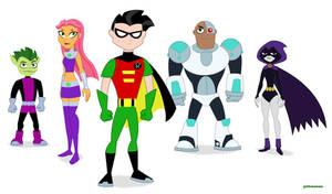 Teen Titans DC SHG style Alt Version