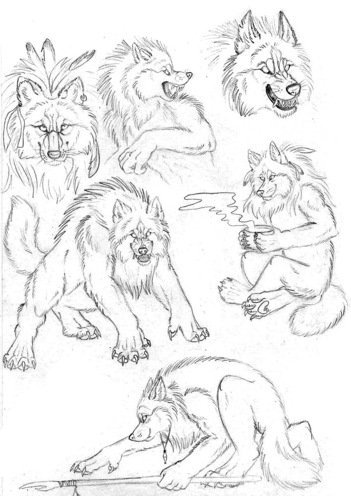 easy drawings of werewolves - photo #14
