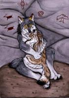 Cuddling wolves by Vlcek
