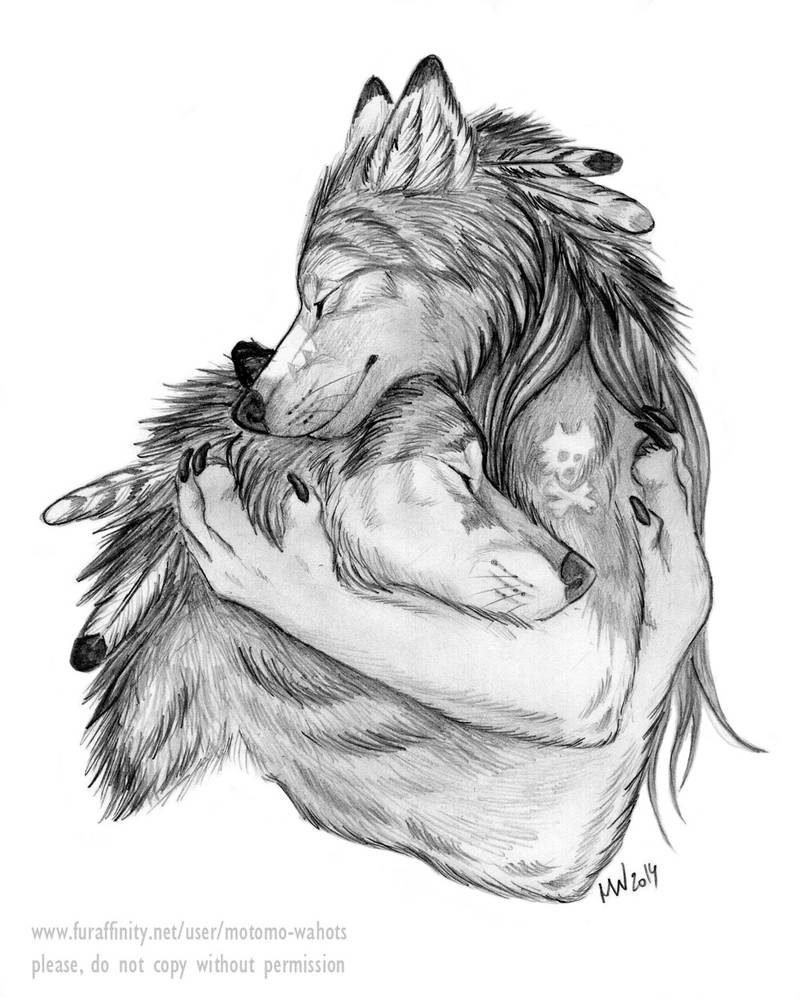 Even big bad wolves sometimes needs cheering up