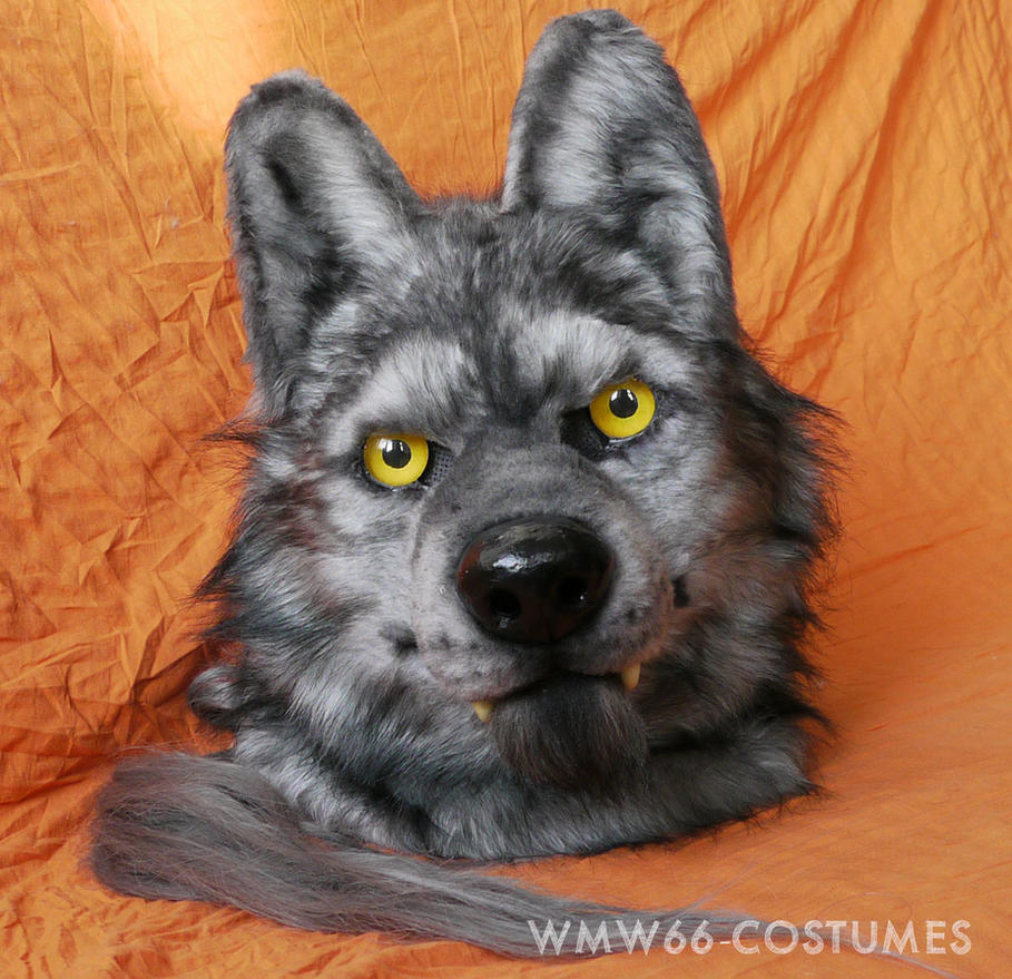 Werewolf66 animatronic fursuit head by Vlcek