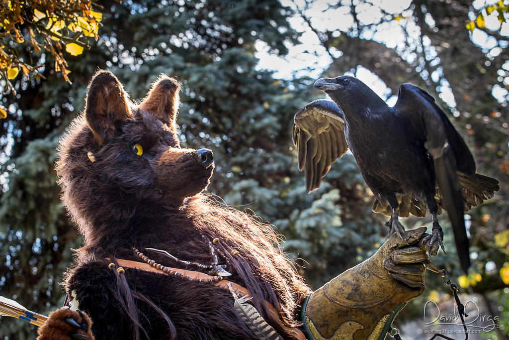 Motomo with raven by Vlcek