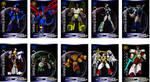 Galaxy Force Beastformer cards by Giga-Leo