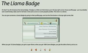 Llama Badges explanation