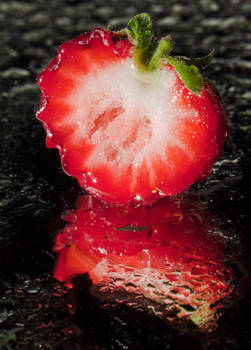 Strawberry droplets I