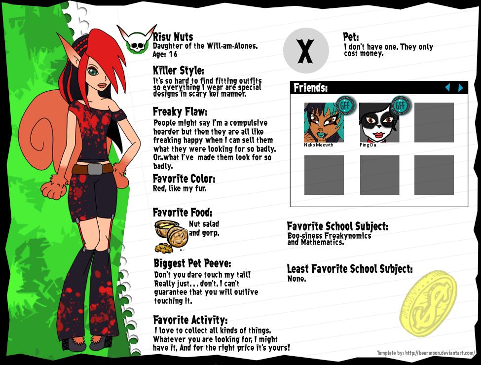 Monster High: Risu Nuts by bigrika