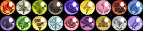 Pokemon Type Badges by bigrika
