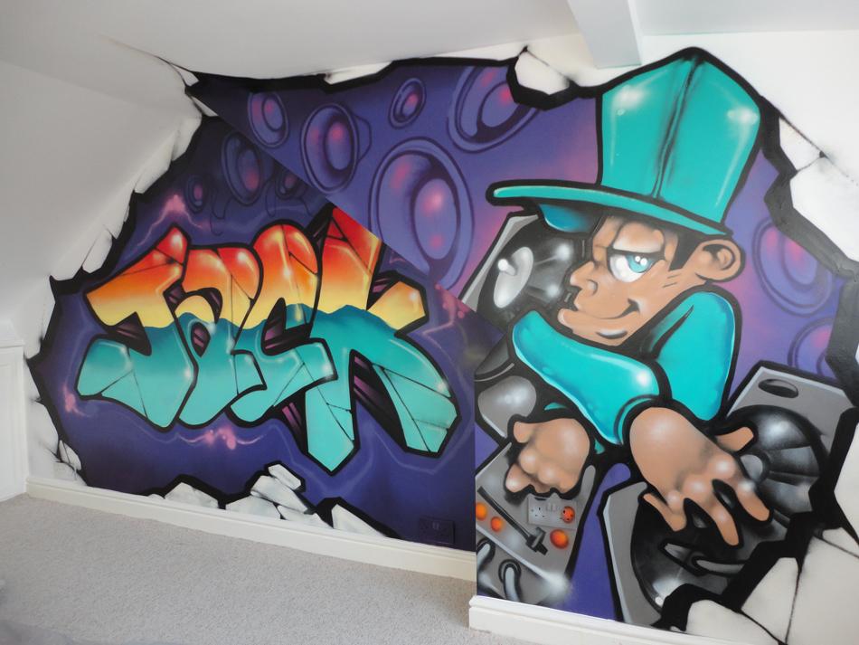 Jack Dj Hiphop Graffiti Art By Jackjaden