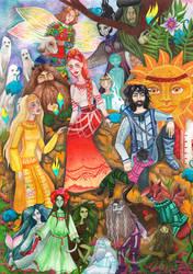 Ukrainian Folklore - Party Around Latyr by Persephore