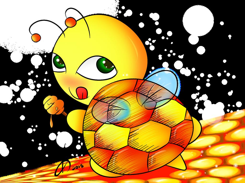 Honey Bee-turtle by momiji-aya