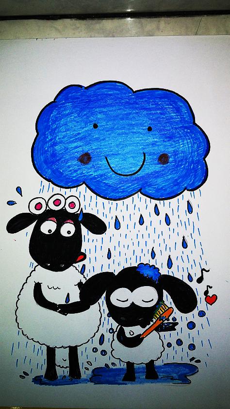 Timmy Shower in the Rain by momiji-aya