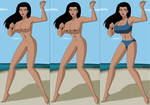 Wonder Woman at the Beach 02 by ironwolf860