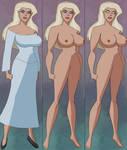 Female Elf Striptease by ironwolf860