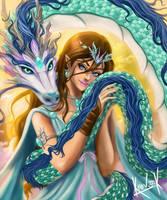 DragonGirl-Kr0v3ck by kr0v3ck