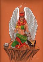 Hawkgirl by MMcDArt