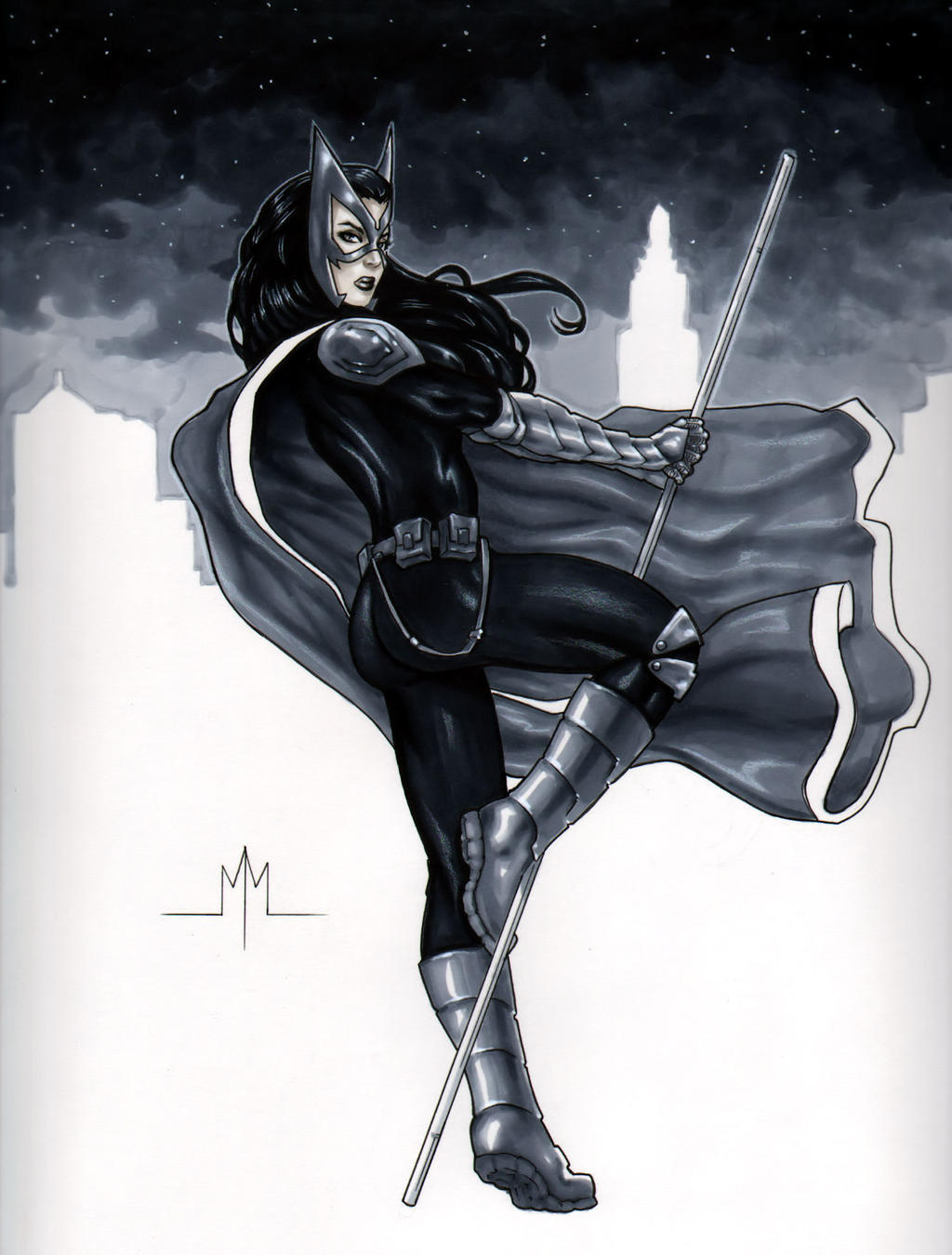 Huntress by MMcDArt on DeviantArt | 1024 x 1350 jpeg 183kB