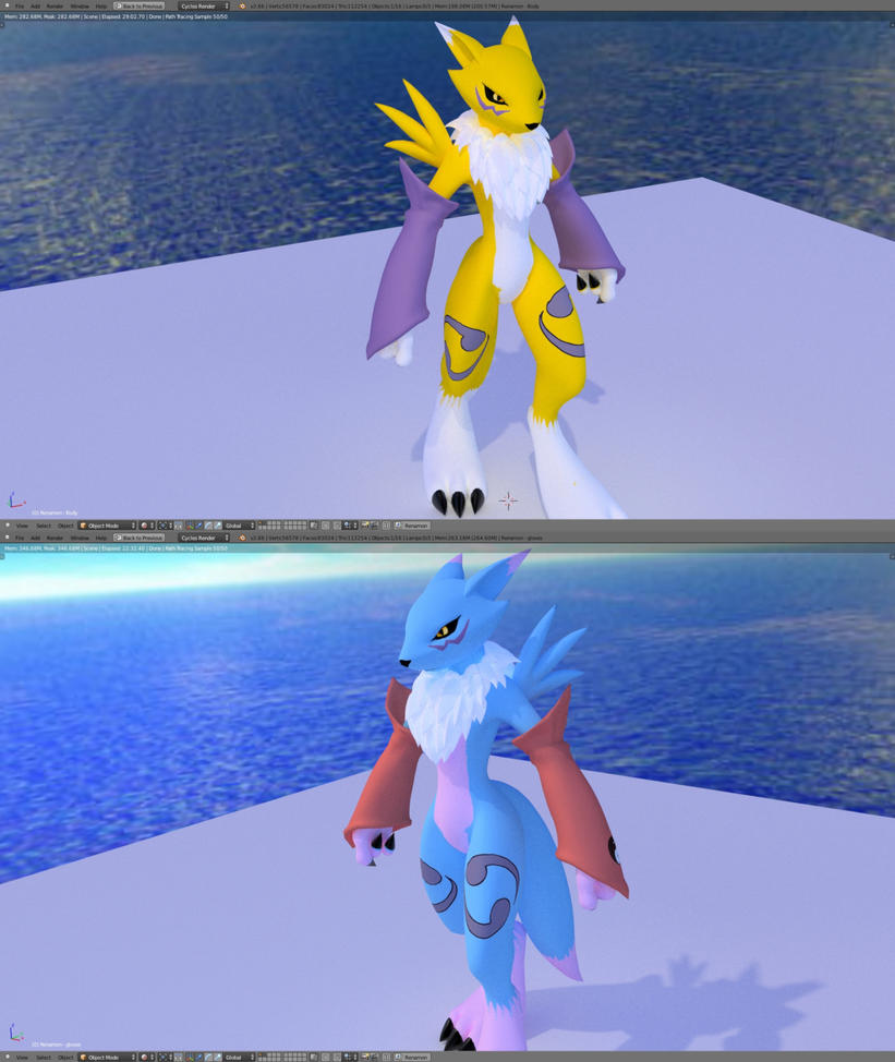 Renamon V2.5 customization update by Mikiel2171