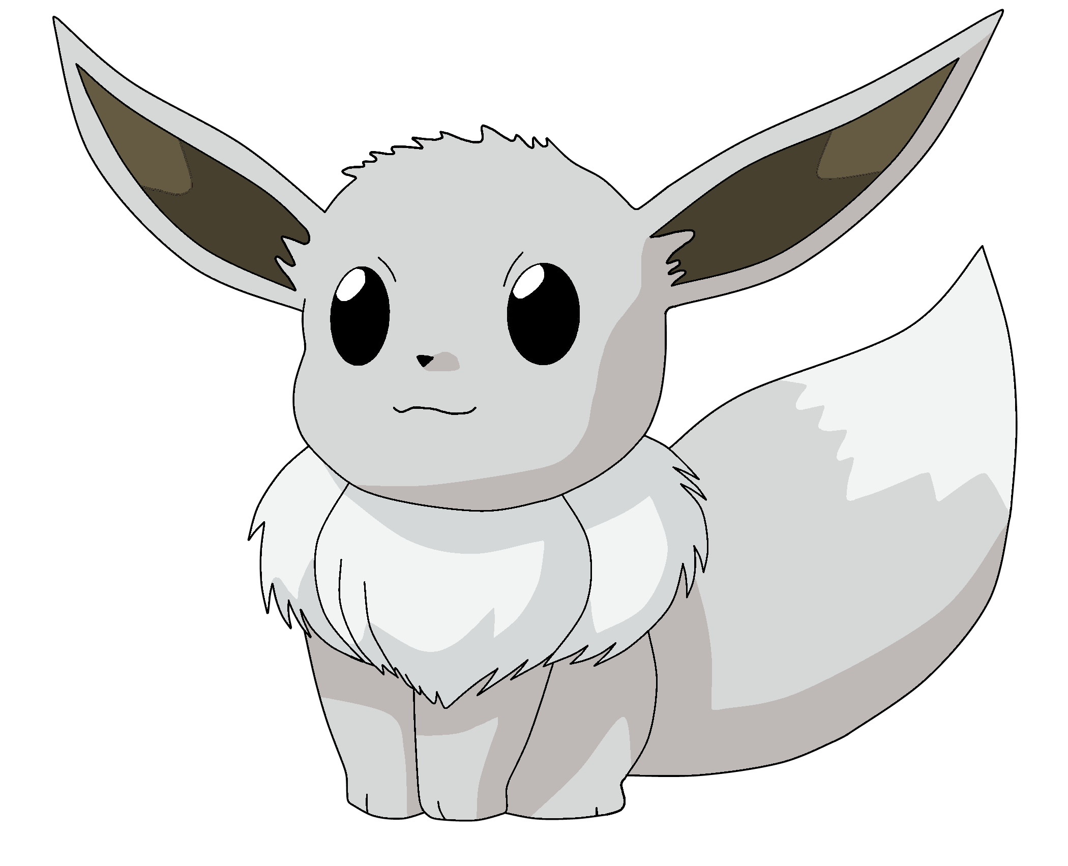 Pokemon evoli 133 lineart farbig shiny by wallpaperzero on - Pokemon noir 2 evoli ...