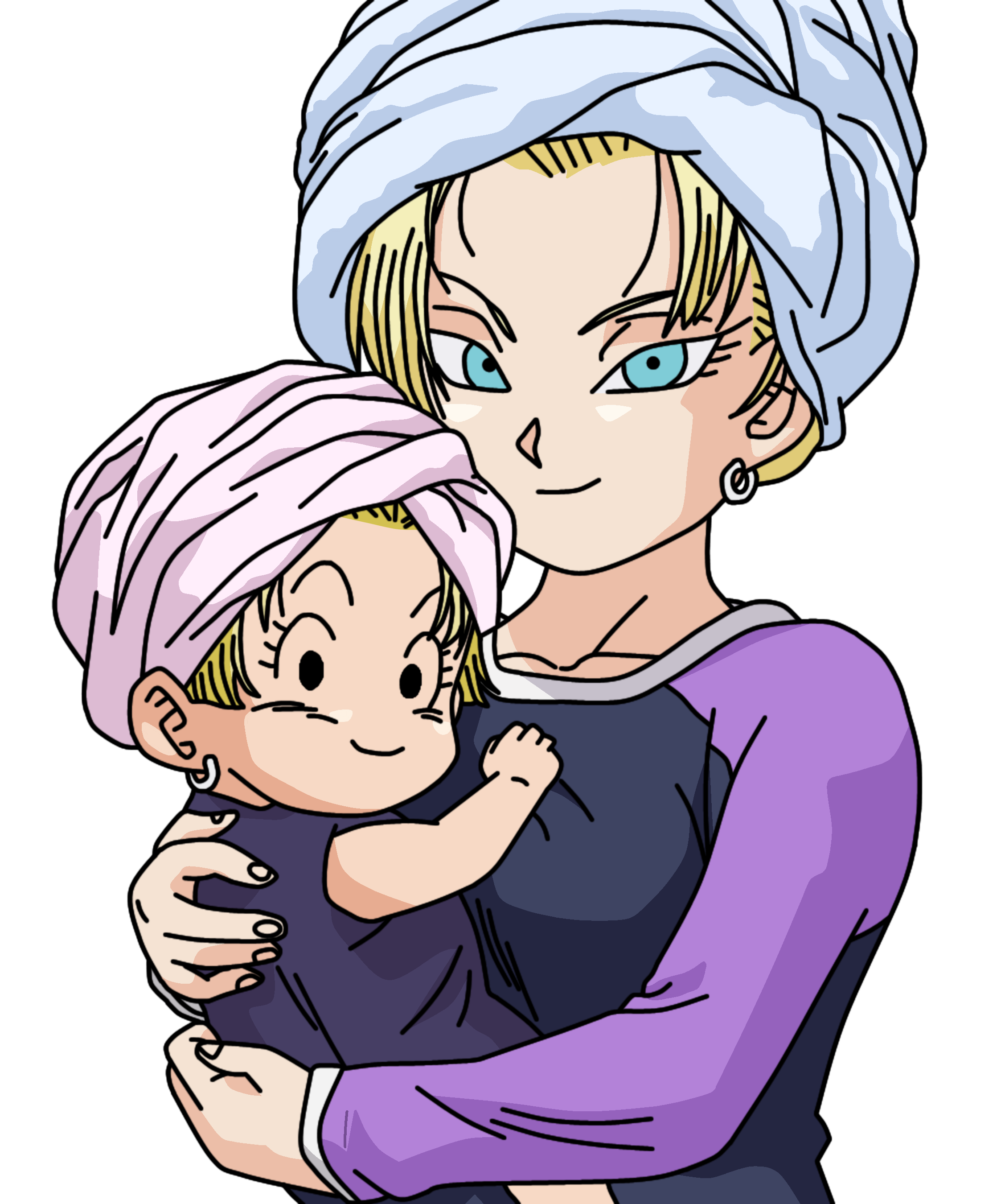 Dragonball marron and c18 lineart farbig by wallpaperzero on deviantart - Dragon ball z c18 ...