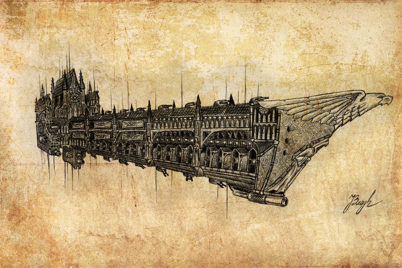 [GALERIE] Artworks - Page 6 Redeemer_battleship_by_illwisdom-d75cfyx