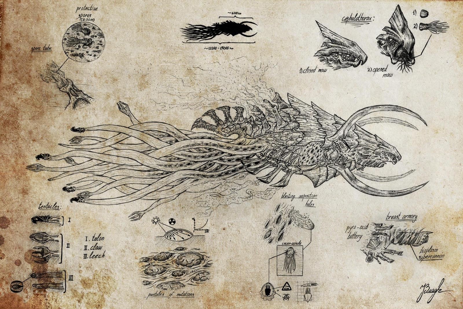 [GALERIE] Artworks - Page 6 Predator_hiveship_by_illwisdom-d75cg3j