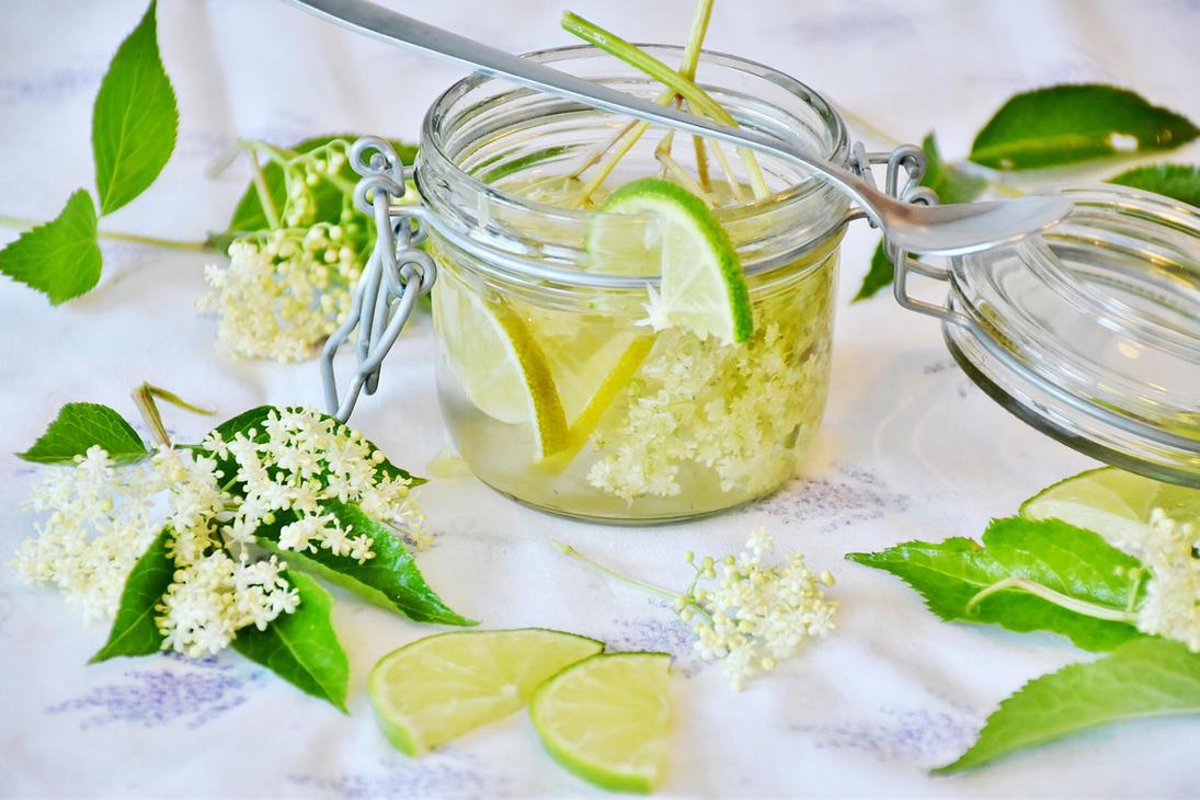 Fresh Lime and Elderflower Cordial by AHealthMatter