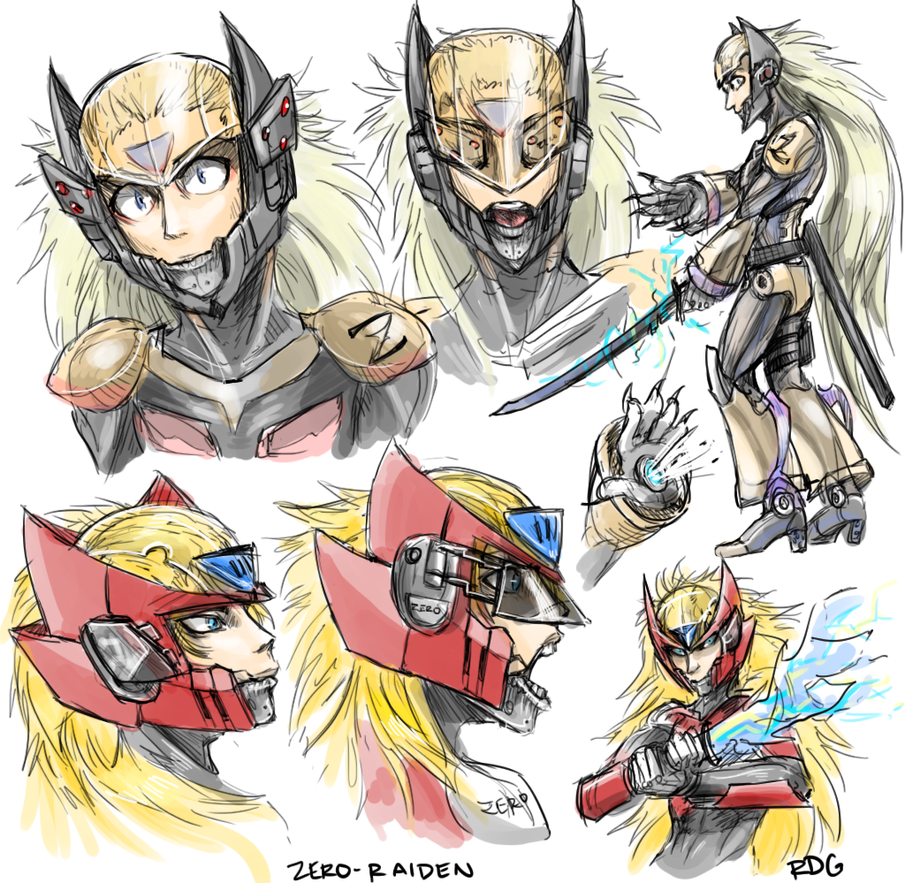Zero Raiden Crossover Designs by cyborgraptor
